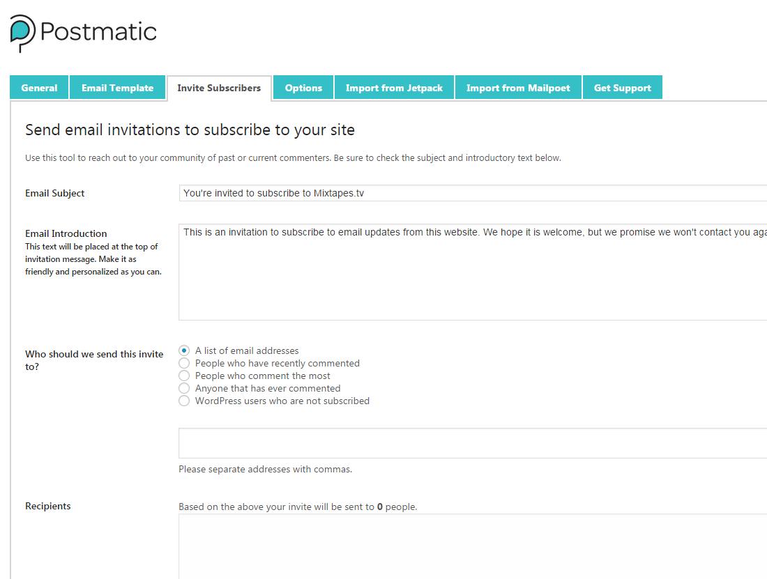 postmatic wordpress email plugin